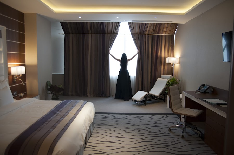 by Smochina Cosmin - Artistic Objects Still Life ( hotel room, black woman, presidential room, sexy woman )