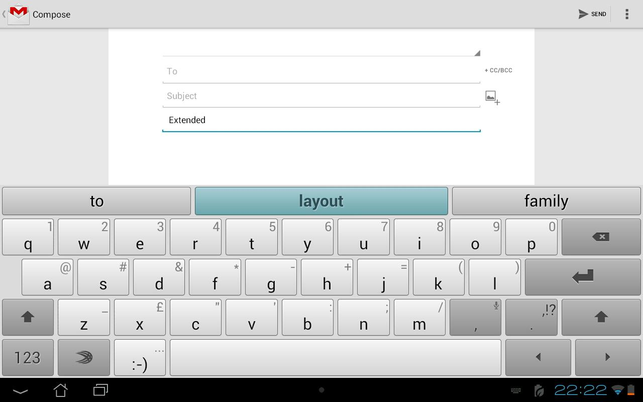 SwiftKey Tablet (Legacy) - screenshot