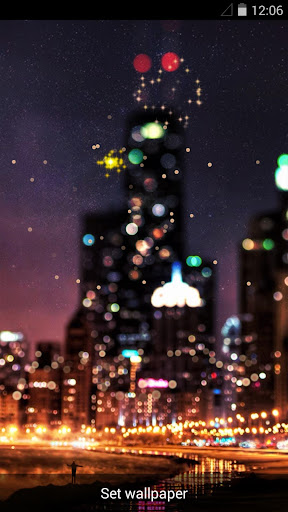 都市煙花夜景動態壁紙