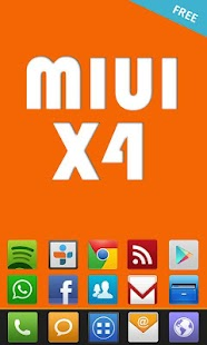 MIUI X4 Go/Apex/ADW Theme FREE- screenshot thumbnail