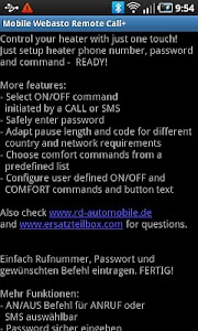 Mobile Webasto Remote CALL+ screenshot 5