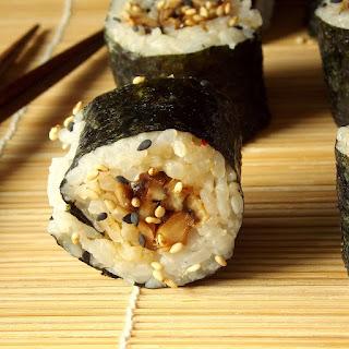 Sesame Shiitake Sushi.