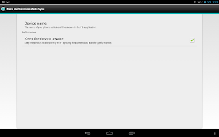 Screenshot of Nero MediaHome WiFi Sync