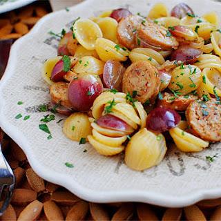 Sausage, Grape & Pasta Skillet Recipe
