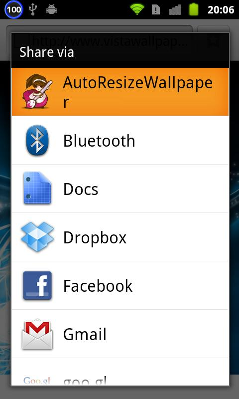 AutoResizeWallpaper - screenshot