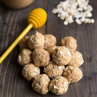 Peanut Butter Honey Oat Protein Bites.
