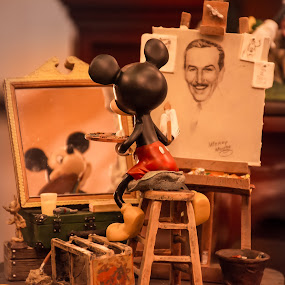 Master Mouse by Boyd Smith - Artistic Objects Toys ( micky mouse, walt disney, painting )
