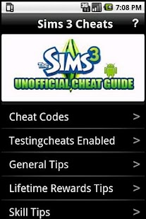 Sims 3 Cheats - screenshot thumbnail