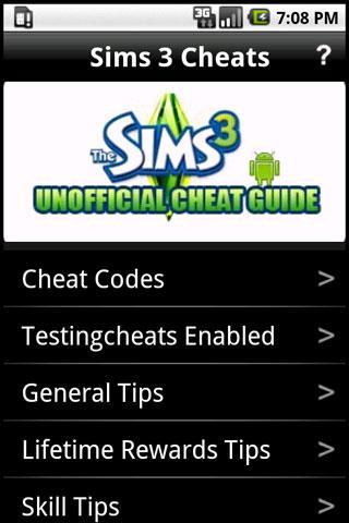 Sims 3 Cheats - screenshot