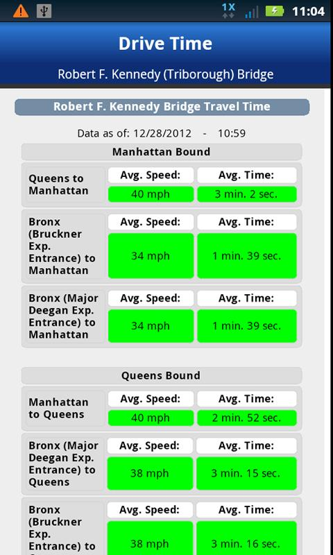 MTA Drive Time - screenshot