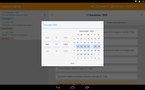 how to see google calendar history