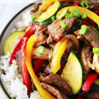 Saucy Korean Beef Stir Fry.