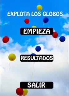 Explota los globos juego Niños