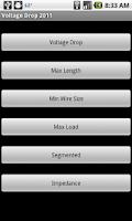 Screenshot of Voltage Drop