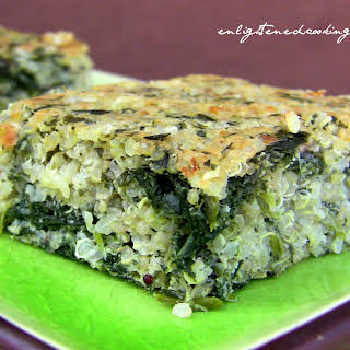 "Savory Quinoa-Spinach Breakfast ""Bars""."