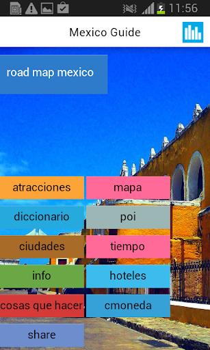 メキシコオフライン地図&天気
