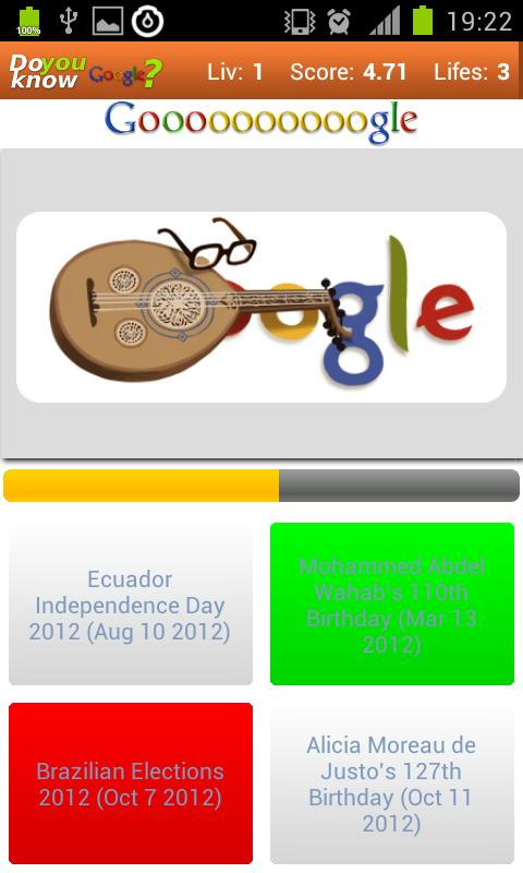 Do you know? Google Doodles - screenshot