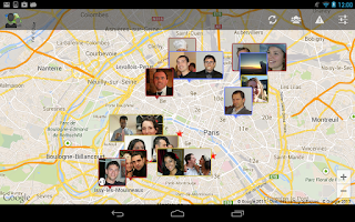 Screenshot of Contact on Map