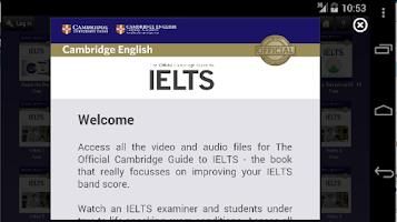 Screenshot of Official Cambridge Guide IELTS
