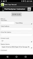 Screenshot of Gas Tracker
