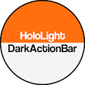 Dark ActionBar Orange CM Theme icon