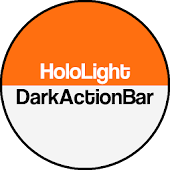 Dark ActionBar Orange CM Theme