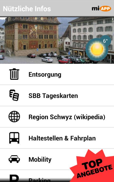 miAPP Schwyz - screenshot