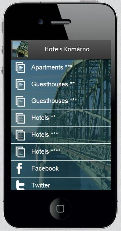 Hotels Komarno- screenshot