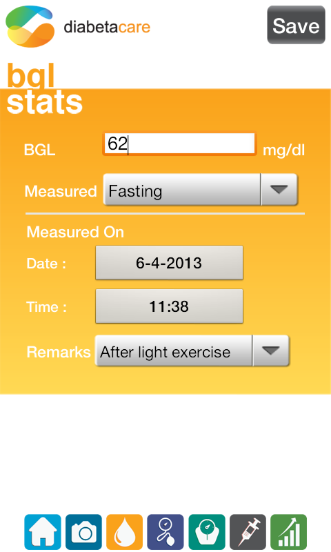 Diabetes Management - screenshot