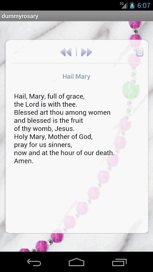 Holy Interactive Rosary - screenshot