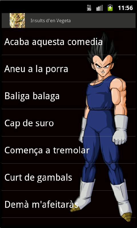 Insults d'en Vegeta - screenshot