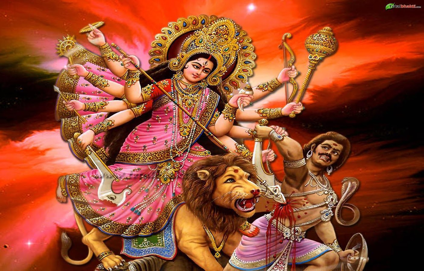 Wallpaper download karna hai - Durga Sherawali Wallpaper Screenshot