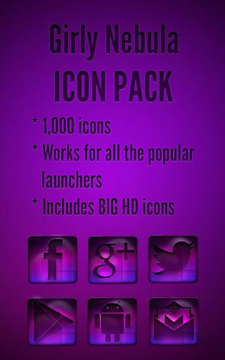 Girly Nebula - Icon Pack