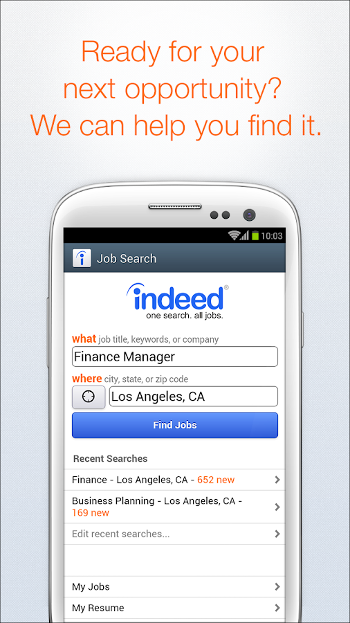 indeed job search screenshot - Indeed Search Resumes