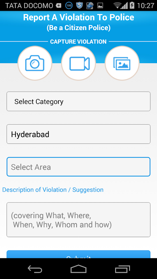 """Hawk Eye - Telangana  Police""- screenshot"