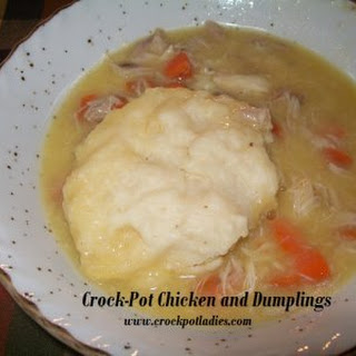 Crock-Pot Chicken and Dumplings.
