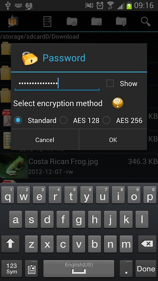 AndroZip™ PRO File Manager- screenshot