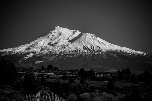 MT. Shasta in B&W by Scott Morgan - Black & White Landscapes ( moutain, shasta, b&w, mt., snow, spring,  )