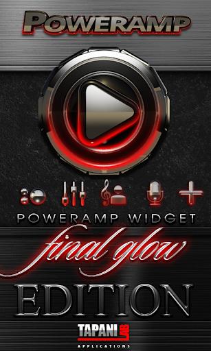 Poweramp skin widget Red Glow