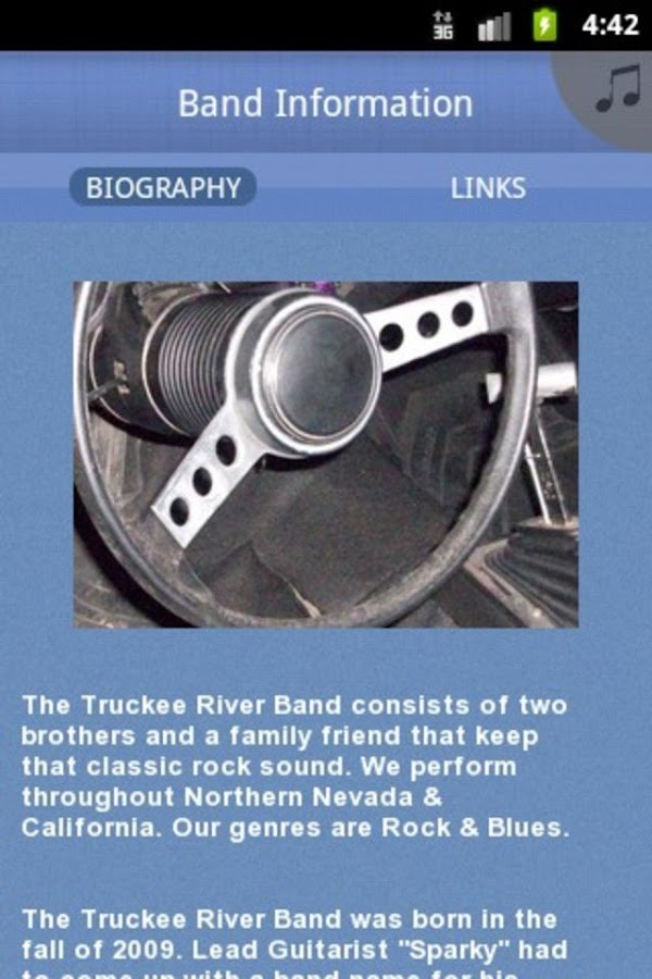 Truckee River Band - screenshot