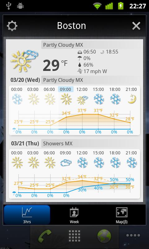 World Weather Clock Widget - screenshot