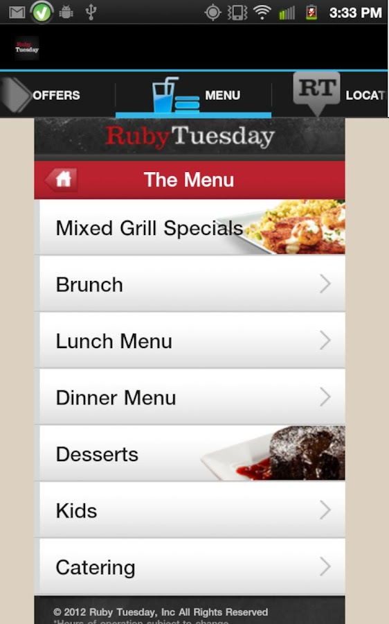 Ruby Tuesday - screenshot