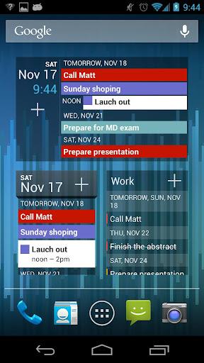 日曆++ 黑色主題