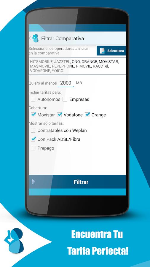 Weplan: Comparador & Control - screenshot