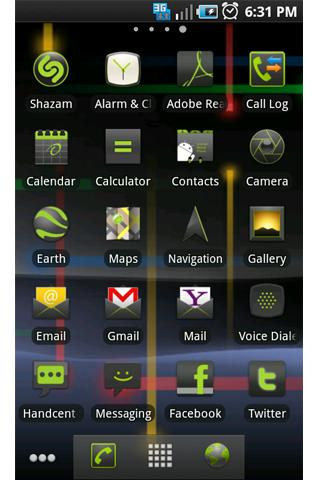 ADW Theme: Nexus S Gingerbread - screenshot