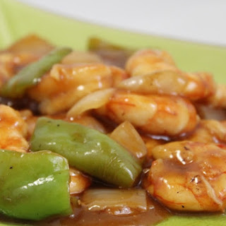 Chinese-style Spicy Shrimp.