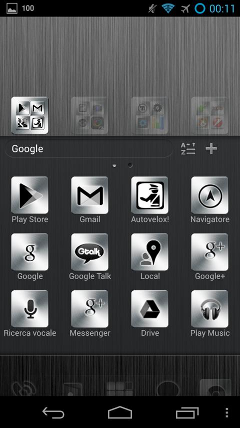 Dark Metal GO Launcher EX - screenshot