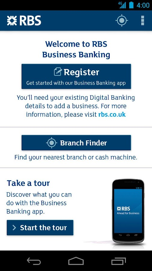 RBS Business Banking- screenshot