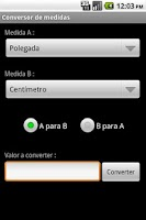 Screenshot of Conversor de unidades