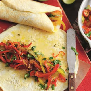 Tex-Mex omelette wraps